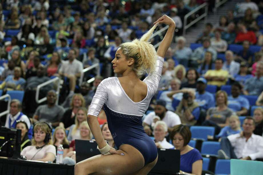 06824e7a Former UCLA gymnast Danusia Francis, who will compete in the Aurora Games  on Wednesday,