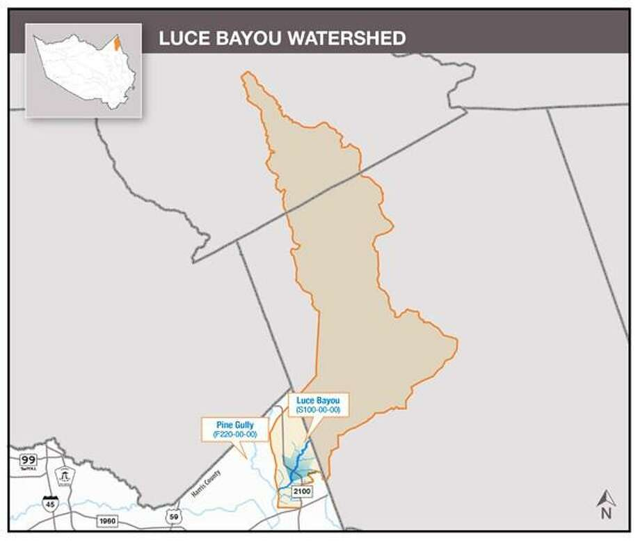 Only 23 square miles of the 227-square mile Luce Bayou Watershed is in Harris County. The rest is in Montgomery County and Liberty County. Photo: Harris County Flood Control District