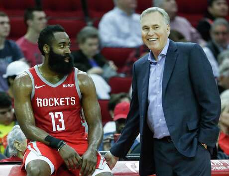 James Harden, left, produces so many big scoring nights that coach Mike D'Antoni has simply gotten used to it.