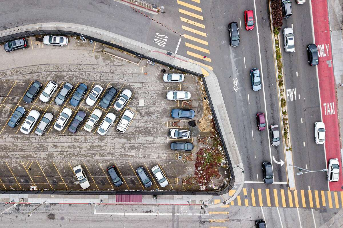 The Upper Yard parking lot located at San Jose Avenue and Geneva Avenue, Saturday, July 13, 2019, in San Francisco, Calif.