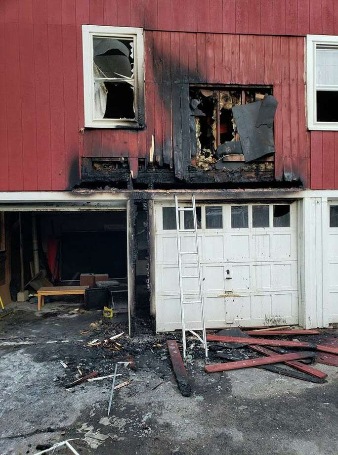 Firefighters from a handful of local towns battled a blaze at an apartment in East Litchfield on Saturday, June 13, 2019. Photo: Contributed Photo/East Litchfield Fire Co. Facebook / Contributed / The News-Times Contributed