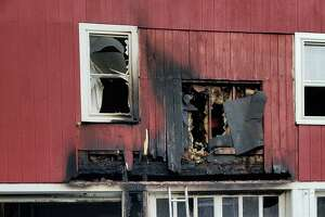 Firefighters from a handful of local towns battled a blaze at an apartment in East Litchfield on Saturday, June 13, 2019.