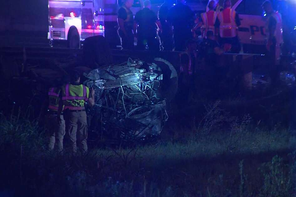 San Antonio police say one teen is dead following a fatal rollover stemming from a vehicle theft early Sunday on the Northwest Side, July 14, 2019.