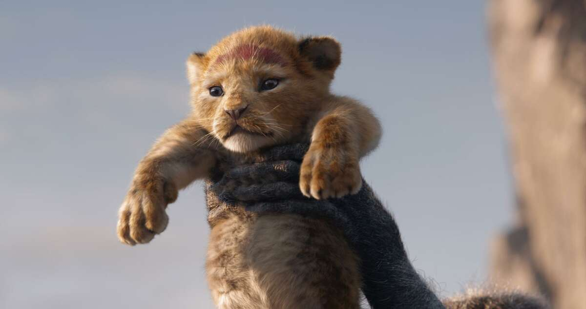 The lion Simba, voiced as a cub by JD McCrary, is rendered with cuddly verisimilitude in Disney's CGI remake of