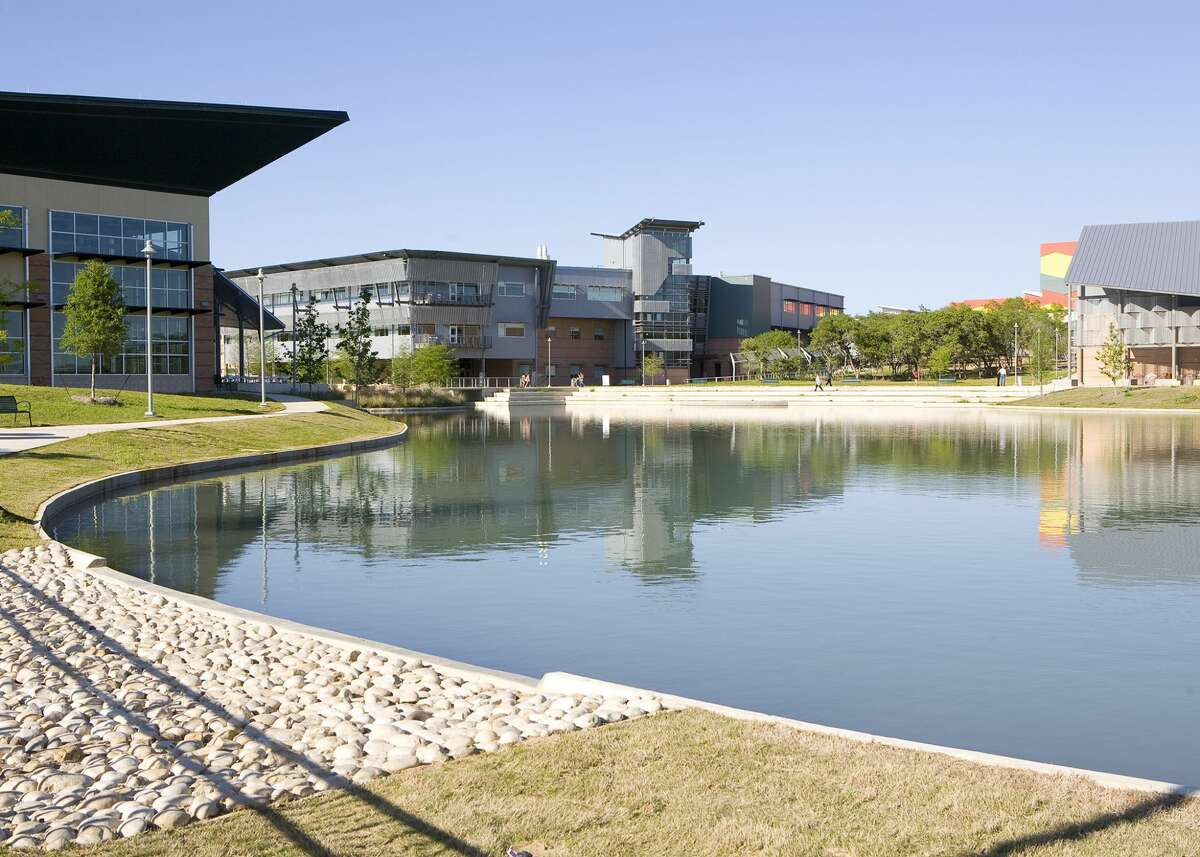 The campus of Northwest Vista College on the far N.W. Side. There are three seats in contention on the Alamo Colleges District board of trustees.