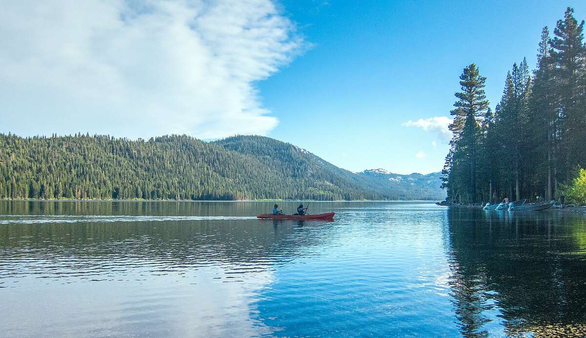 The Nature Conservancy offers free loaner kayaks at Independence Lake north of Truckee in the high Sierra