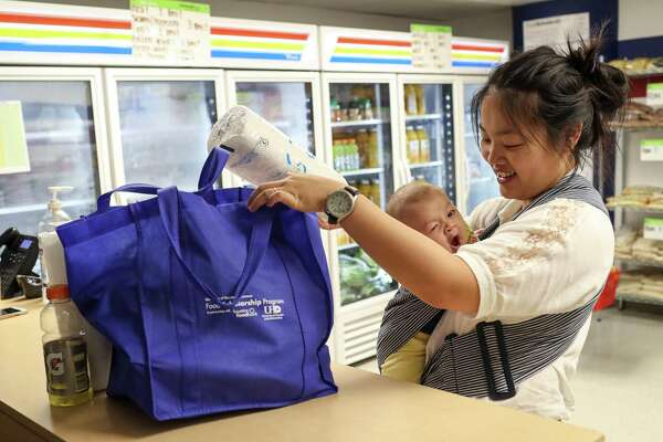 UHD's food market provides free groceries weekly, letting students