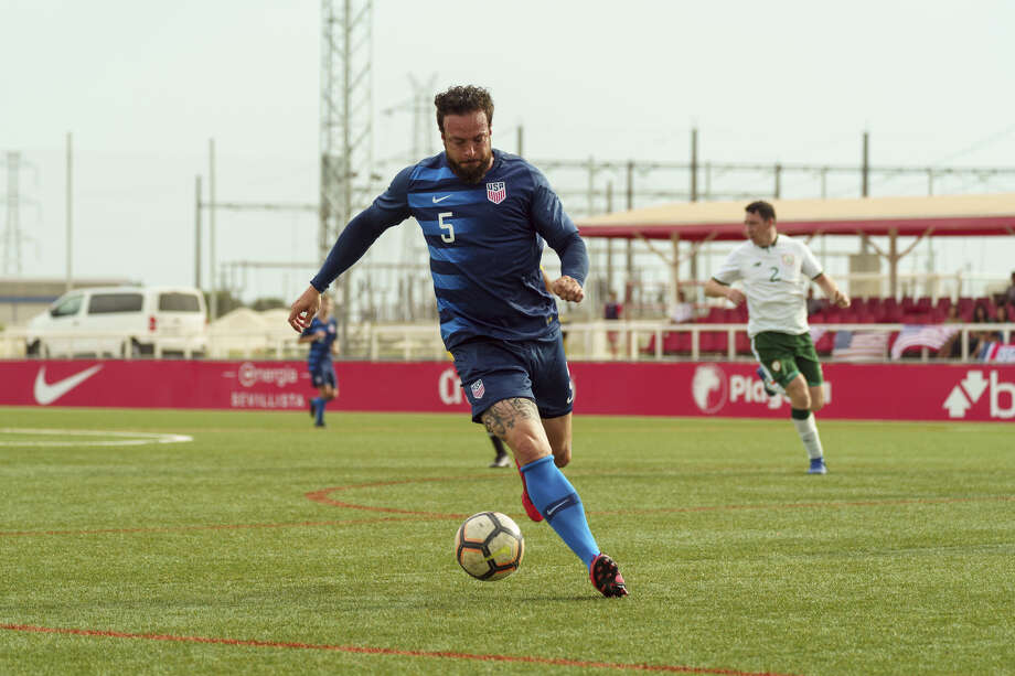 Seth Jahn, a member of the U.S. paralympic team, served a four-month assignment on the women's national team's security detail. Photo: U.S. Soccer Federation. / Handout