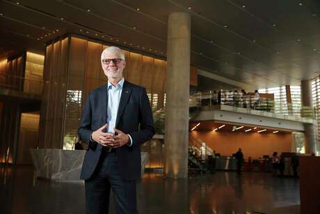Portrait of Chairman and CEO of Cullen/Frost Bankers, Inc. Phil Green in the lobby of the new Frost Tower for Texas Power Brokers profile on Thursday, July 11, 2019. Green has lead Frost Bank since 2016. He has been with Cullen/Frost since 1980. (Kin Man Hui/San Antonio Express-News)
