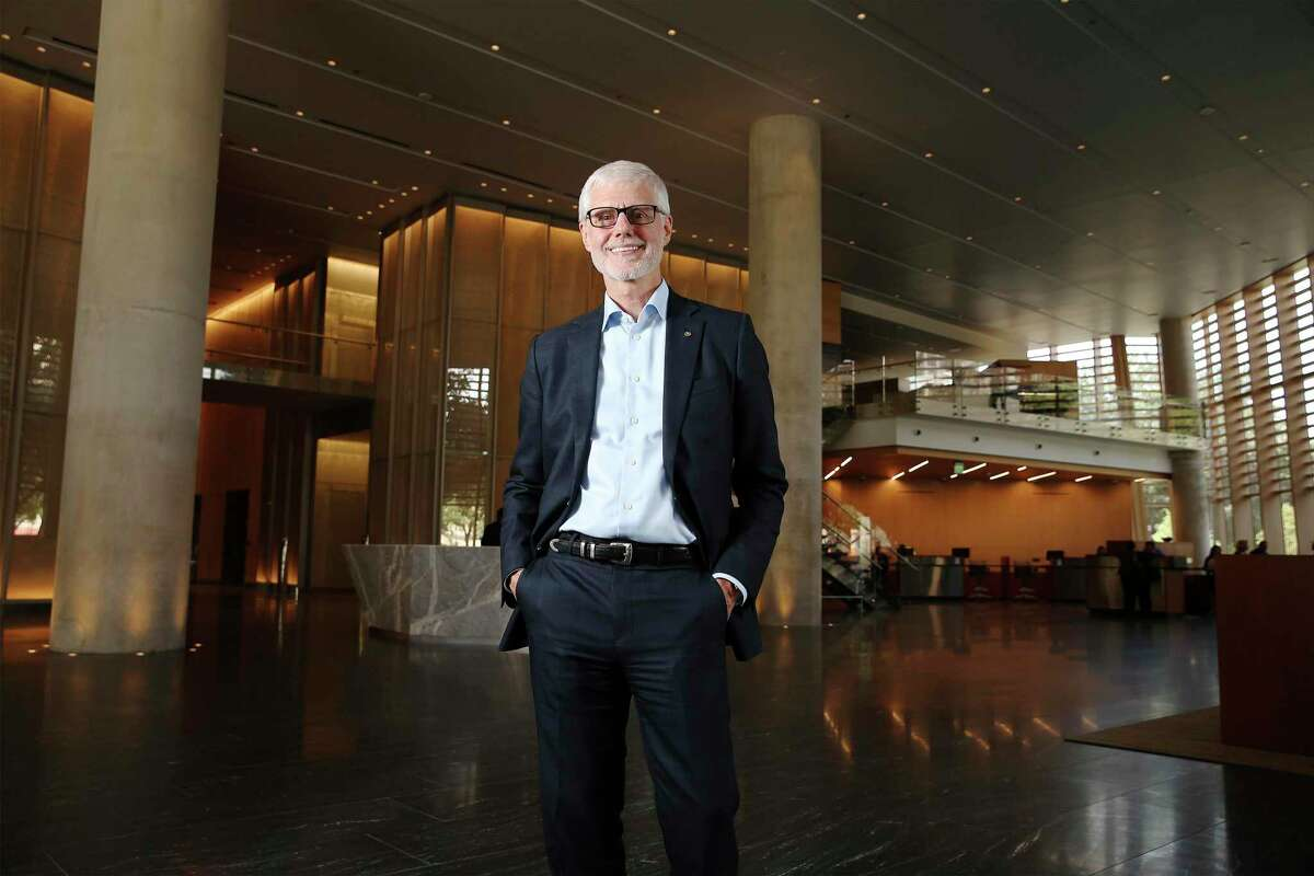 Cullen/Frost Bankers Inc. Chairman and CEO Phil Green in the lobby of the Frost Tower in 2019. He has been with the company, parent of Frost Bank, since 1980.