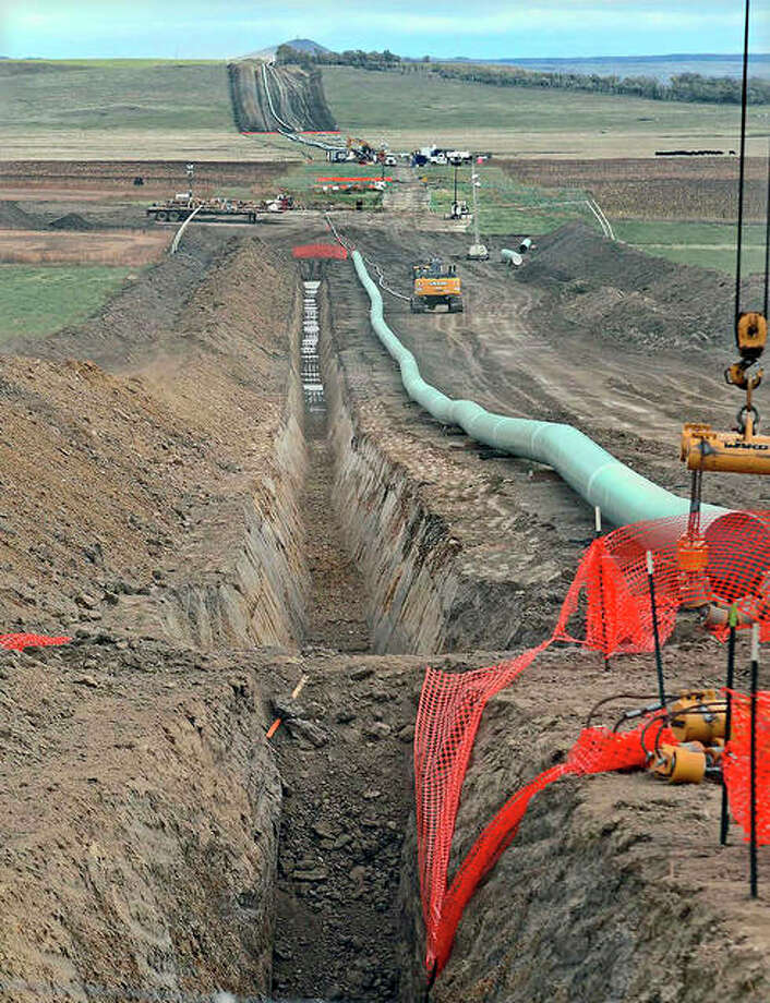 The company that built the Dakota Access Pipeline is seeking state approval to build a new pumping station in Emmons County, North Dakota. Opponents of the Dakota Access oil pipeline plan to request a hearing on a proposal to nearly double the pipeline's capacity. Photo: Tom Stromme | Bismarck Tribune (AP)