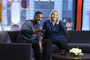 "GMA STRAHAN & SARA - 4/2/19 Patrick Mahomes, Melissa Joan Hart and fitness expert Jorge Cruise are guests on ""Strahan & Sara"" on Tuesday, April 2, 2019. ""GMA Strahan & Sara"" airs Monday-Friday (1pm-2pm, ET) on the Walt Disney Television via Getty Images Television Network.    GMAS&S19 (Paula Lobo/Walt Disney Television via Getty Images)   MICHAEL STRAHAN,  SARA HAINES"