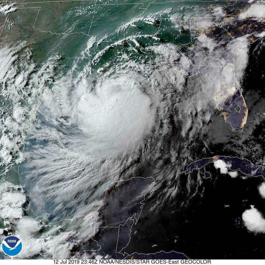 Passengers on a flight into San Antonio this weekend were able to see Hurricane Barry from the skies.