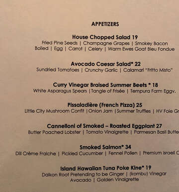 Table Hopping: Siro's food is really expensive, but wine