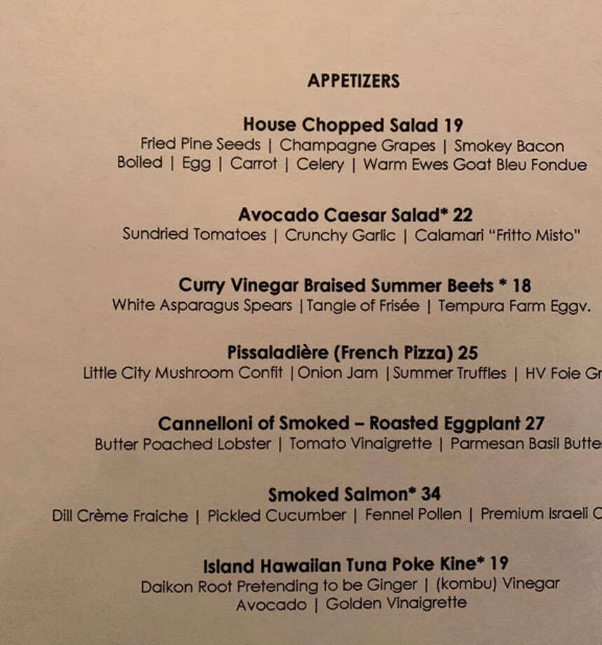 David B. Britton's new summer 2019 menu at Siro's. Photo: Table Hopping