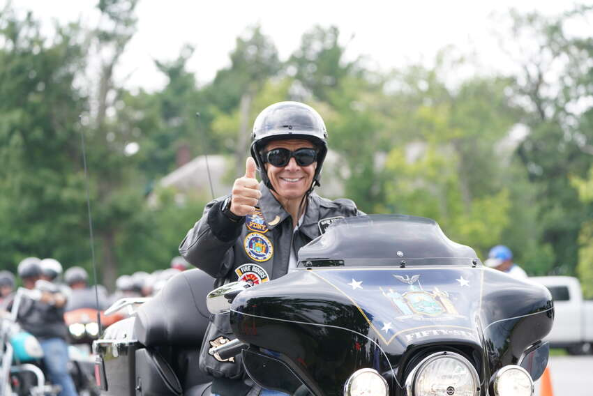 Governor Andrew M. Cuomo participated in the 2019 Catskill Challenge Motorcycle Ride. The motorcyclists travelled from the Motorcyclepedia Museum in Newburgh to the Bethel Woods Center for the Arts in Bethel as part of the kickoff for the 2019 Catskill Challenge, which promotes tourism in the Catskills.