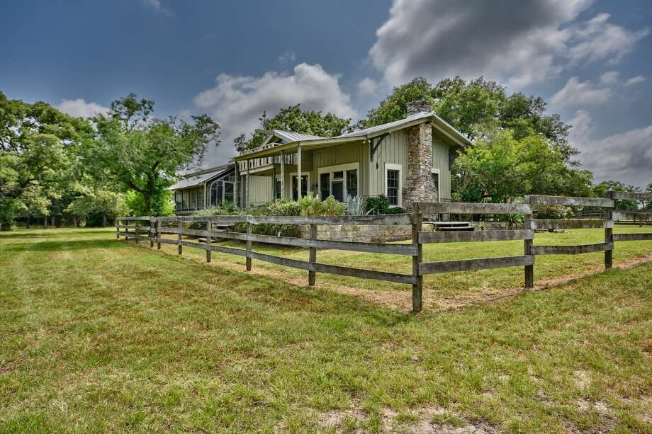 The criminal defense attorney Dick DeGuerin has listed a portion of his family ranch, complete with a former train depot that has been converted to a home, for $1,200,000. Photo: John Deans, Deans Imaging