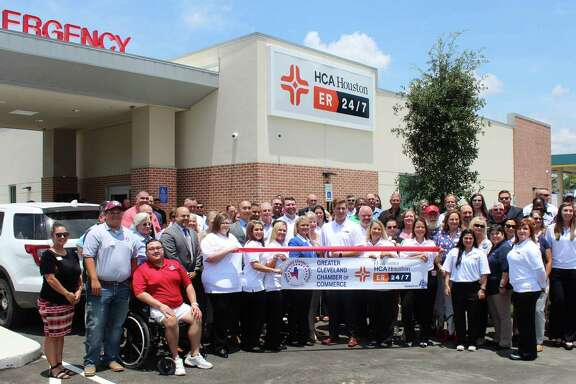 The Greater Cleveland Chamber of Commerce had a ribbon cutting ceremony for the HCA Houston ER 24/7.