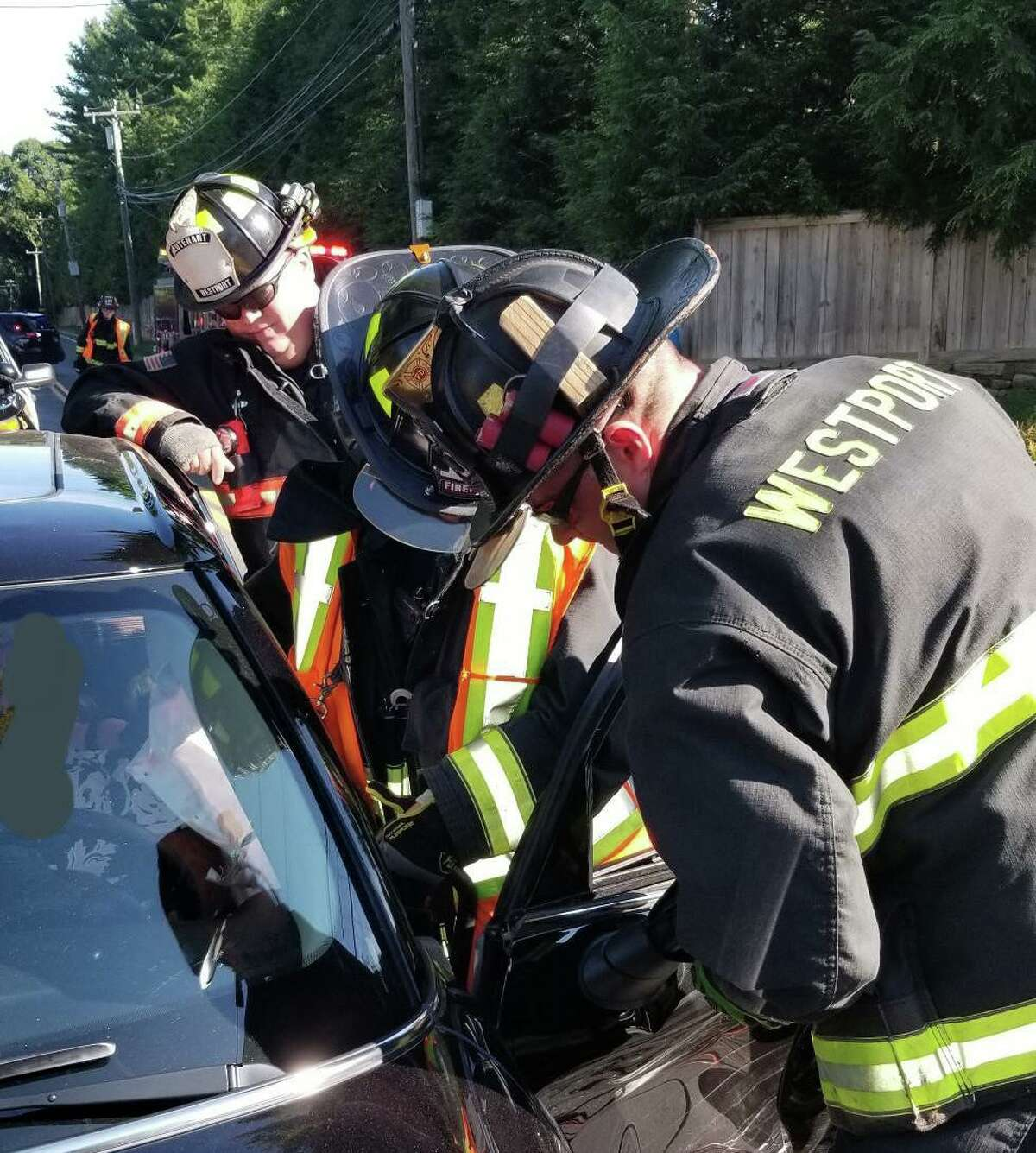 Two people were injured in a two-vehicle accident on Cross Highway on Monday, July 15, 2019. Assistant Fire Chief Jeff Gootman said the accident happened at 8:20 a.m. at the the intersection of Cross Highway and Bayberry Lane.