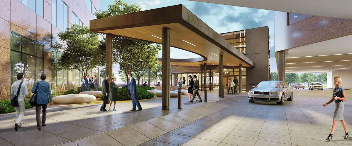 The Page architecture firm has designed the renovations planned for Marathon Oil Tower at 5555 San Felipe. The improvements include remodeled common areas and a new freestanding restaurant.