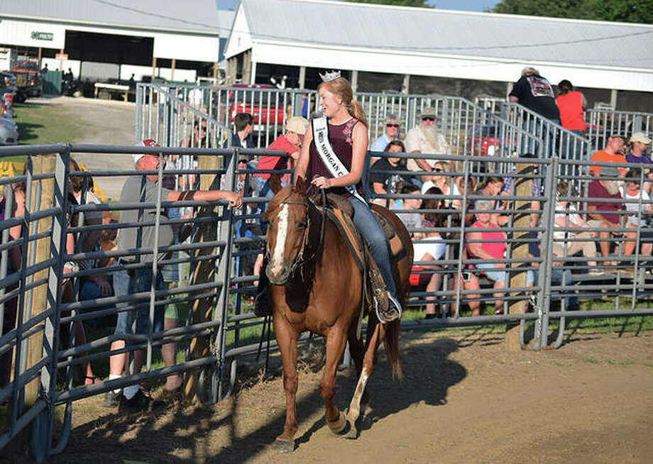 Rodeo scenes from Thursday at the Morgan County Fair. Photo: Marco Cartolano | Journal-Courier