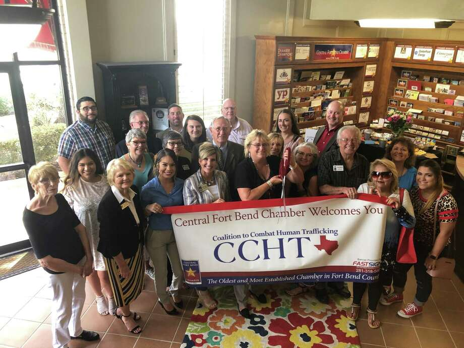 The Central Fort Bend Chamber and the community recently celebrated the ribbon-cutting ceremony for The Coalition to Combat Human Trafficking. Photo: Central Fort Bend Chamber