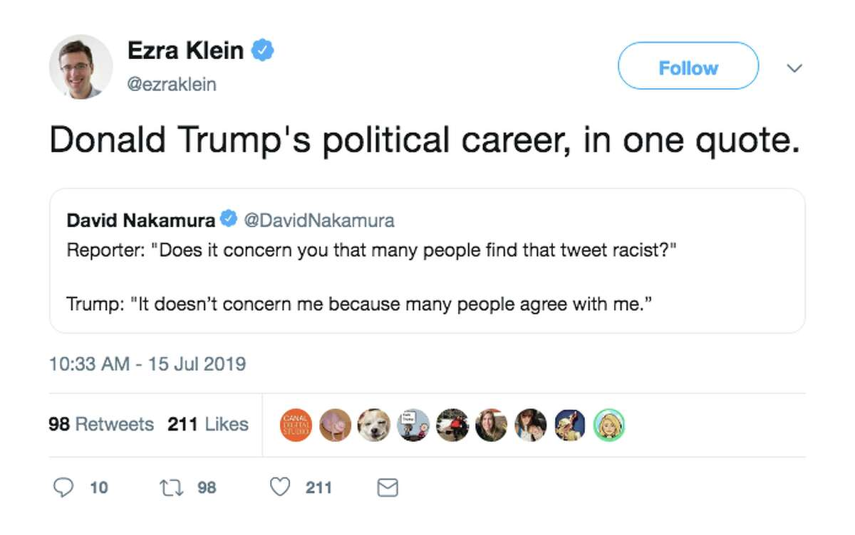 Twitter reacts after Trump doubles down on racist tweets in a Monday, July 15, 2019, press conference.