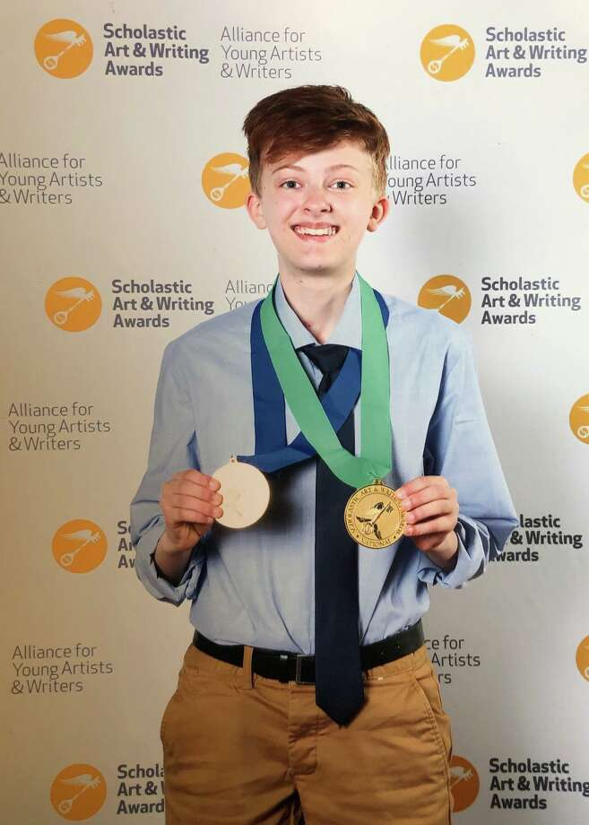New Milford seventh-grader Stella Mahlke earned two gold medals at the national Scholastic Art and Writing awards in June. Photo: Contributed Photo / The News-Times Contributed