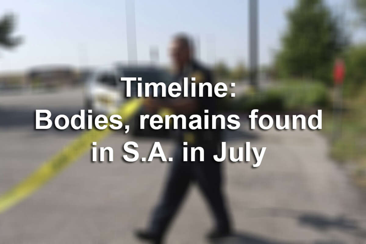 Click ahead to see a timeline of human remains and bodies found around the San Antonio area.