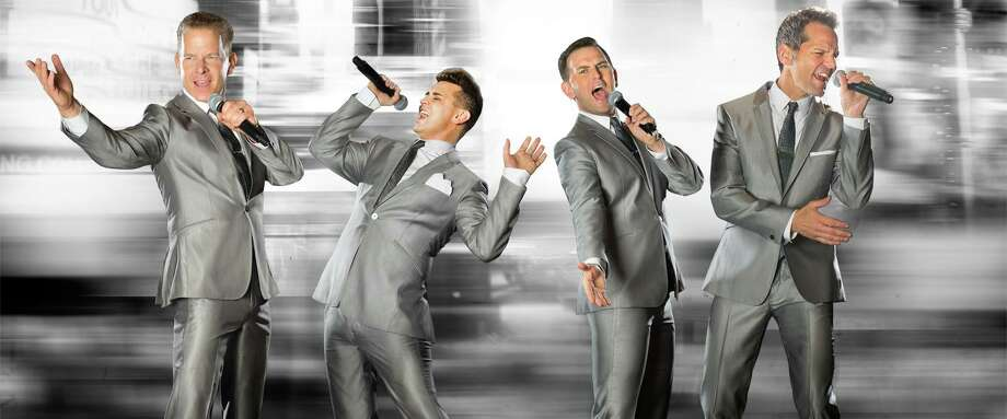 "The Midtown Men, featuring the four stars from the original Broadway cast of ""Jersey Boys,"" will be at Stamford's Palace Theatre Sept. 14 to sing '60s hits. Photo: Palace Theatre / Contributed Photo"