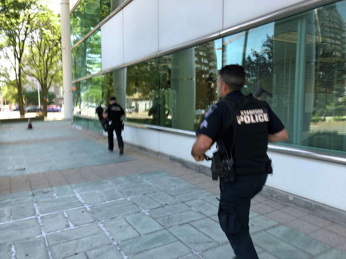 Stamford police responded to a false alarm that was triggered at the Stamford Federal Credit Union on the sixth floor of Government Center.