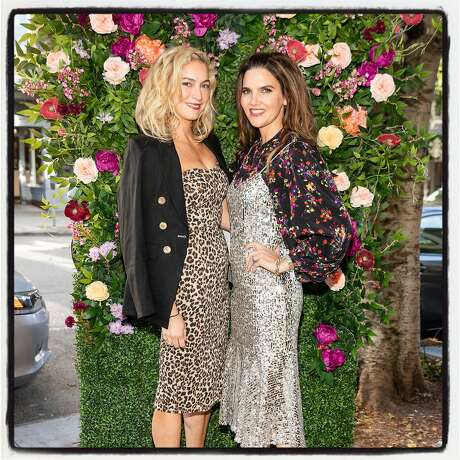 Designers and sisters-in-laws Veronica Swanson Beard (left) and Veronica Miele Beard at the launch of their Fillmore Street boutique. June 18, 2019. Photo: Drew Altizer