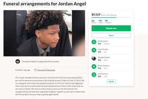 A GoFundMe page for the family of Jordan Angel, the Houston teen who was killed in an accidental shooting last Friday, says the boy's mother has been paralyzed since 2015. The boy's father also died last year, the page said.