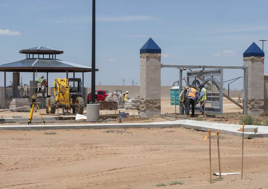 Work continues 07/15/19 on the new Chris Davidson Opportunity Park off Briarwood near the Bush Tennis Center. Tim Fischer/Reporter-Telegram Photo: Tim Fischer/Midland Reporter-Telegram