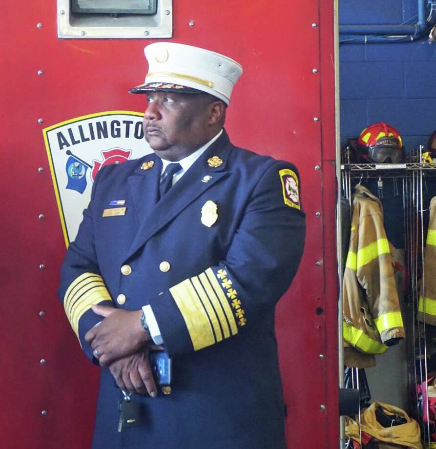 New Haven Fire Department Chief John A. Alston Jr. responded to Ground Zero in Manhattan after the terrorist attacks on September 11, 2001, while working as a Jersey City firefighter. Alston spoke at a news conference at the West Haven Fire Department on Monday July 15, 2019 advocating for more funding for the Sept. 11 Victim Compensation Fund. Photo: Emilie Munson / Hearst Connecticut Media / Connecticut Post