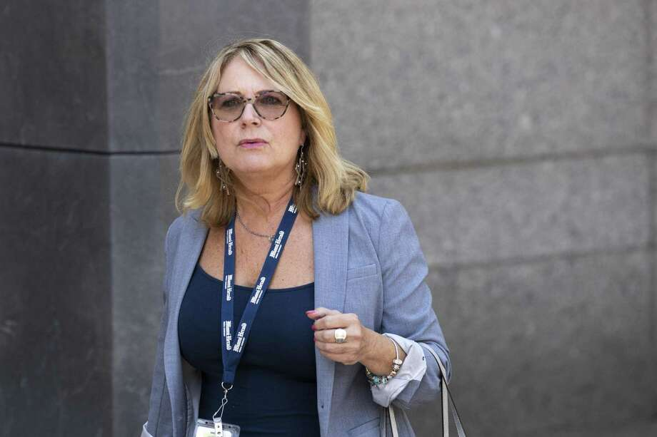 Miami Herald reporter Julie K. Brown leaves federal court following a bail hearing for Jeffrey Epstein July 15 in New York City. The judge stated he will make a ruling regarding bail on Thursday. Epstein is charged with having operated a sex trafficking ring in which he abused dozens of underage girls. Photo: Drew Angerer / Getty Images / 2019 Getty Images