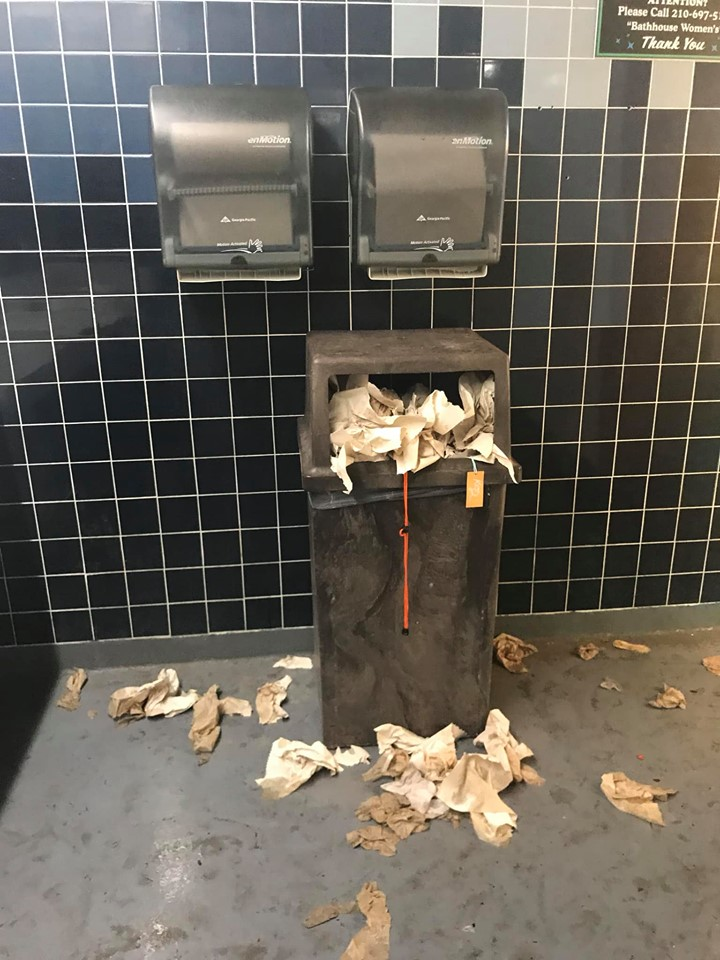Six Flags Fiesta Texas addresses photos showing messy restrooms, dining areas