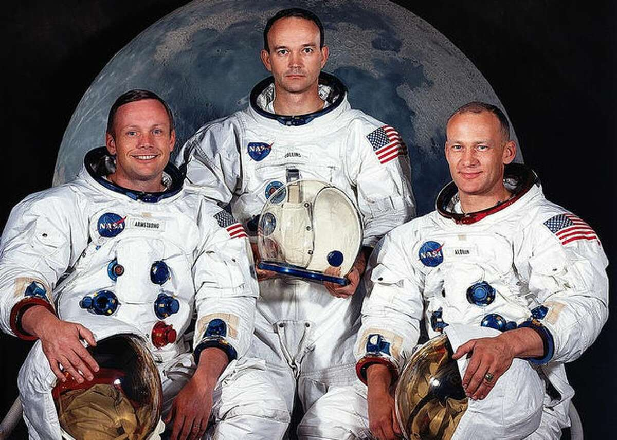 """Apollo 11 moon landing: Neil Armstrong's defining moment NASA's Apollo 11 mission was a feat unlike any other in human history: After a rocket carried them 250,000 miles through space, two of these astronauts -- Neil Armstrong (left) and Edwin """"Buzz"""" Aldrin (right) -- landed on the moon and spent two and a half hours out on the lunar surface. That first-ever moon landing took place July 20, 1969, making this year the 50th anniversary.The astronaut in the center is Michael Collins, who stayed in orbit around the moon while Armstrong and Aldrin were on the surface. The photo is from May 1969 as preparations for Apollo 11 moved into the final stages. Click on through for photos from the moon, the spaceflight and the return to Earth, and from other moments in Armstrong's career. Originally published Sept. 29, 2018.Updated Oct. 11: Added two photos of the Apollo 11 mission and one of the X-15 rocket plane. Updated July 15, 2019: Added four more photos of the Apollo 11 mission."""
