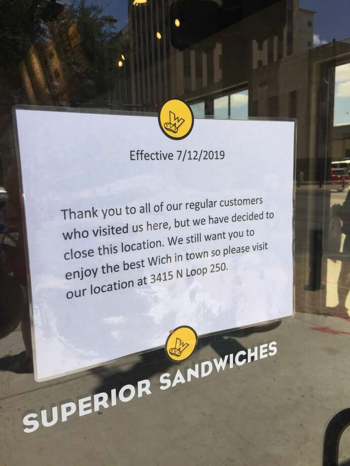 The downtown location of Which Wich effectively closed on July 12. Photo: Rich Lopez/MRT