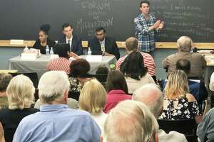 Wesleyan University was the location of Saturday's Middletown Democratic Town Committee mayoral forum. Five Democrats and one Republican are vying for the city's top position. The DTC caucus will meet Thursday to nominate a candidate for November's election.