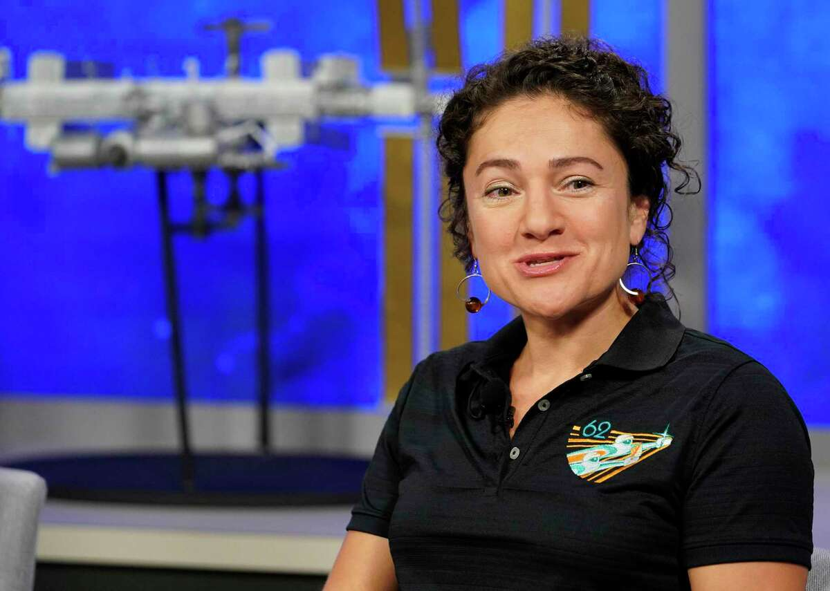 NASA astronaut Jessica Meir speaks during the International Space Station Expedition 61-62 crew news conference at Johnson Space Center Monday, July 15, 2019, in Houston. She along with crewmates Oleg Skripochka of the Russian space agency Roscosmos and Hazzaa Al Mansoori of the United Arab Emirates, a Roscosmos spaceflight participant, are scheduled to launch Sept. 25 aboard the Soyuz MS-15 spacecraft from the Baikonur Cosmodrome in Kazakhstan. Al Mansoori will be the first Emirati astronaut on the space station.