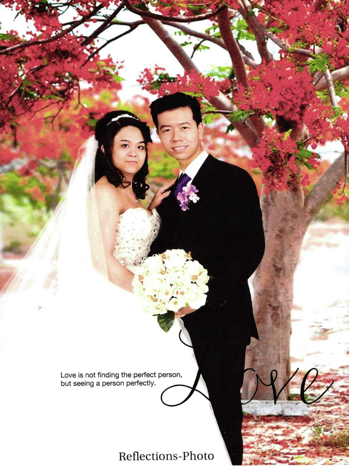 Photo from a wedding album of Khanh Phuong Nguyen and Tam Cong Le. Photo albums were submitted as evidence by federal prosecutors in a massive marriage fraud case.