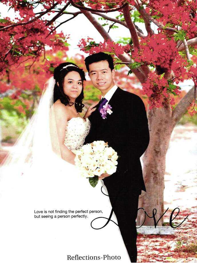 Photo from a wedding album of Khanh Phuong Nguyen and Tam Cong Le. Photo albums were submitted as evidence by federal prosecutors in a massive marriage fraud case. Photo: US Attorney's Office / US Attorney's Office