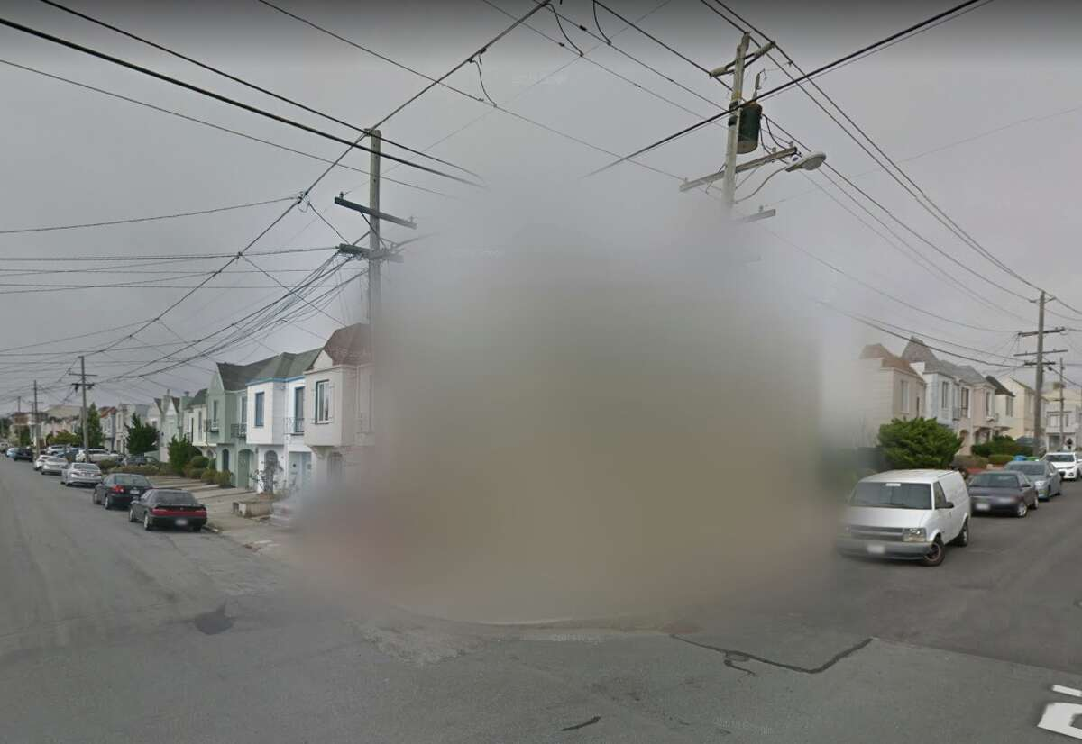A San Francisco property at 2186 35th Ave. is blurred in Google Street View. Why?