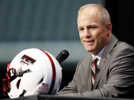New Texas Tech head coach Matt Wells speaks on the first day of Big 12 Conference NCAA college football media days on Monday.