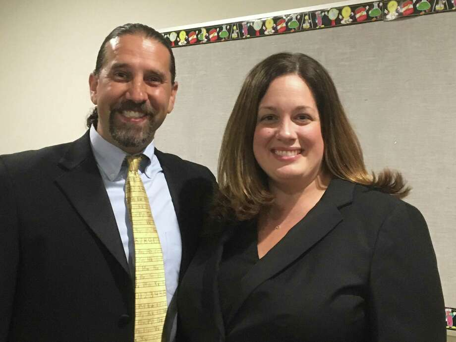 The East Haven Board of Education recently hired Christopher Brown, left, and Laura Cretella, to lead Tuttle and Deer Run schools, respectively. Photo: Mark Zaretsky / Hearst Connecticut Media