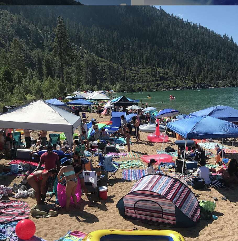 'A beach for 25 is now for 4': With Lake Tahoe full of water, the beaches are disappearing