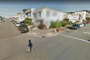 A house in San Francisco's Sunset District is blurred out on Google Street View.
