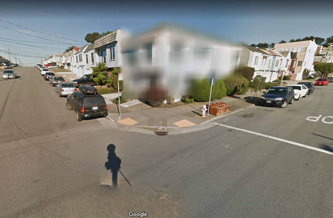 Why some houses on Google Street View are blurred out