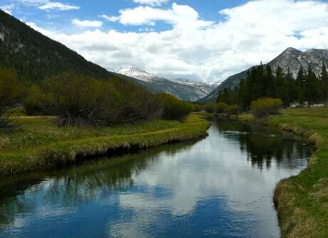 The Tuolumne River near Tioga Road, Lembert Dome and Tuolumne Meadows, where three campgrounds opened this week as summer finally arrives to the Yosemite high country